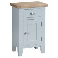 See more information about the Lighthouse Oak 1 Door 1 Drawer Small Cupboard Grey